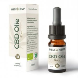 CBD Olie Raw 18% Medi Hemp 1800mg 10ml