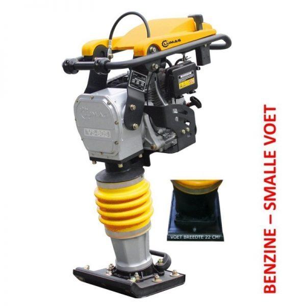 Lumag VS80SM Trilstamper voor straatwerk | 4,1 pk met 1200kg slagkracht 1