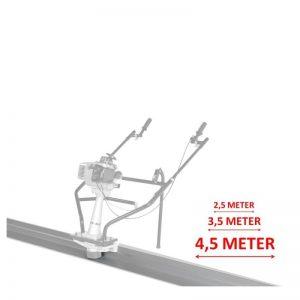 Lumag 5PL450 Trilbalk Profiel 4,5 Meter | Voor Betontrilbalk RB-A