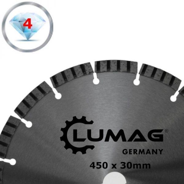 Lumag DS450T Universeel diamantzaagblad voor alle bouwmaterialen D450mm 1