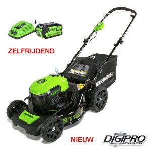 Greenworks 40V DigiPro Accu Grasmaaier GD40LM46SPK4