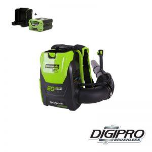 Greenworks 60V Accu Bladblazer Digipro GD60BPBK2X