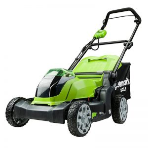 Greenworks G40LM41 Elektrische Grasmaaier | 40 Volt Lithium-Ion Grasmachine 41 Cm (zonder Accu/lader)