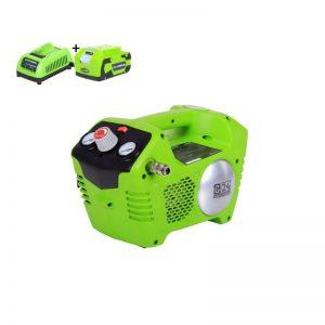 Greenworks G24ACK4 Accu Compressor | 24 Volt Luchtcompressor Met 2 Liter Tank Met 4Ah Accu En Lader
