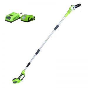 Greenworks G24PS20K2 Elektrische Snoeischaar | G-max 24 Volt | Heggenschaar Met 2Ah Accu En Lader