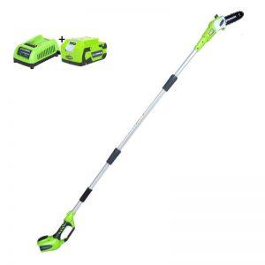 Greenworks G24PS20K4 Elektrische Snoeischaar| G-max 24 Volt | Heggenschaar Met 4Ah Accu En Lader