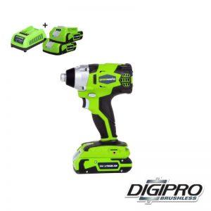 Greenworks 24V Accu Slag- Schroefmachine GD24IDK2X