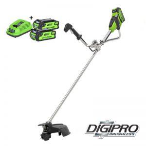 Greenworks 40V DigiPro Accu Grastrimmer En Bosmaaier GD40BCBK2X